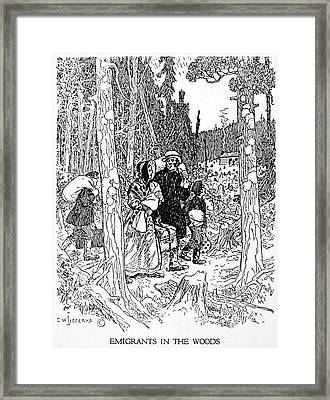 Canada Immigrants, 1830s Framed Print by Granger