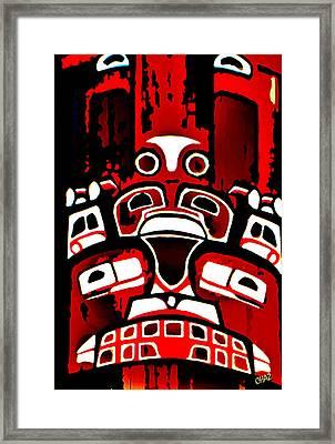Canada - Inuit Village Totem Framed Print