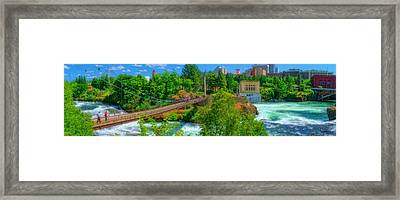 Canada Island Bridge Framed Print by Dan Quam