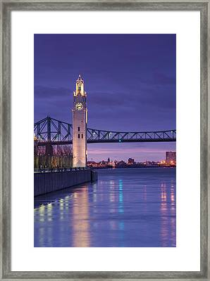 Canada, Montreal, Old Port Clock Tower Framed Print