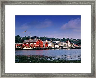 Canada, Nova Scotia, Lunenburg, View Framed Print