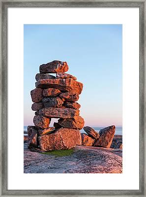 Canada, Nunavut, Territory, Setting Sun Framed Print by Paul Souders