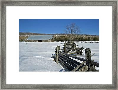 Canada, Ontario, Sheguindah Framed Print