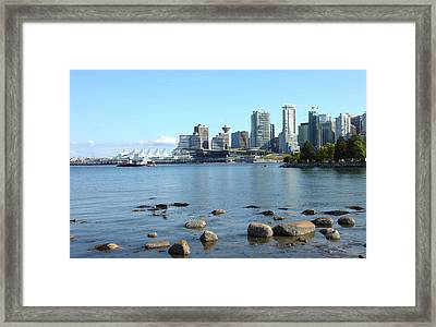 Canada Place And The Vancouver Bc Skyline Canada. Framed Print by Gino Rigucci