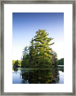 Canada, Quebec Island On Lake Long Pond Framed Print by Jaynes Gallery