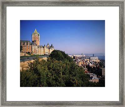 Canada, Quebec, Quebec City, Chateau Framed Print by Walter Bibikow