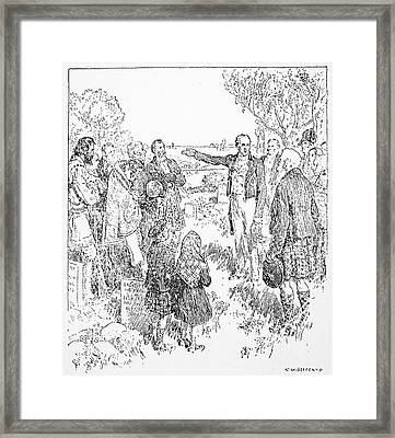 Canada Red River, 1812 Framed Print by Granger