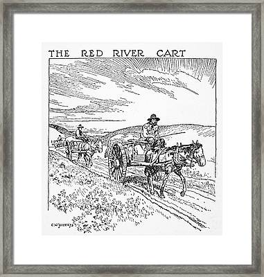 Canada Red River Cart Framed Print by Granger