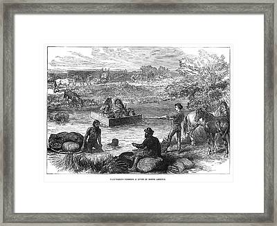 Canada River Crossing Framed Print