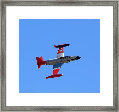 Framed Print featuring the photograph Canadair Shooting Star Ct133 by Jeff Lowe