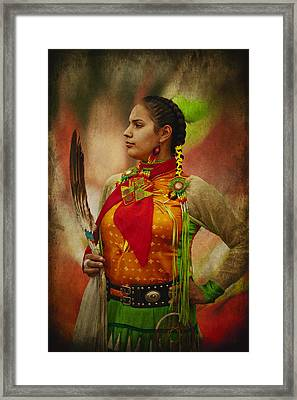 Canadian Aboriginal Woman Framed Print
