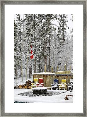 Canadian Backyard Framed Print
