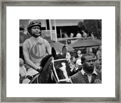 Canadian Champion- Jockey Framed Print