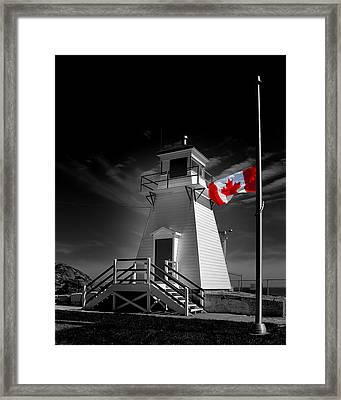 Canadian Flag Half-mast Framed Print