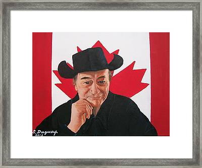 Canadian Icon Stompin' Tom Conners  Framed Print