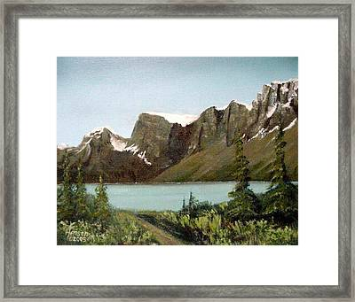 Canadian Lake Framed Print by Kenny Henson