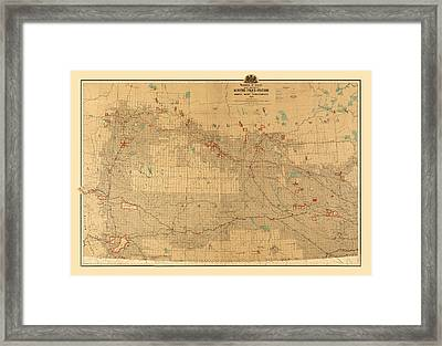Canadian Mounted Police Map Framed Print by Andrew Fare