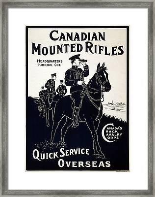 Canadian Mounted Rifles Framed Print