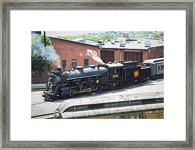 Canadian National Steam Locomotive Framed Print by Nick Mares