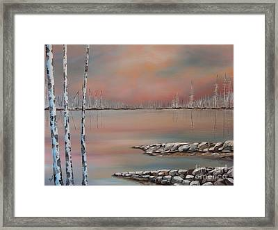 Canadian Northern Reflections Framed Print by Beverly Livingstone