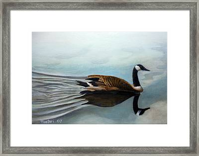 Canadian On The St. Croix Framed Print by Rick Huotari