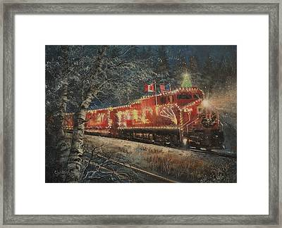 Canadian Pacific Holiday Train Framed Print by Tom Shropshire