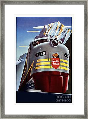 Canadian Pacific Travel Poster Framed Print
