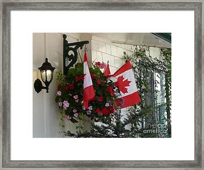 Canadian Patriotism Framed Print by Avis  Noelle