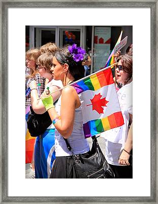 Canadian Rainbow Framed Print