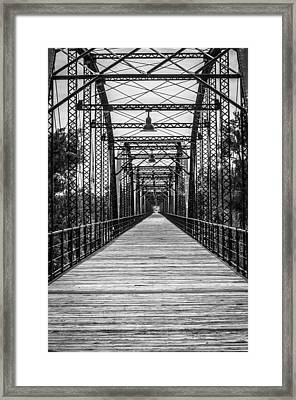Canadian River Bridge Framed Print