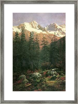 Canadian Rockies Framed Print by Albert Bierstadt