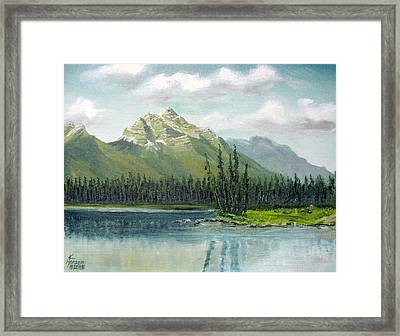 Canadian Rocky Mountains Framed Print by Kenny Henson