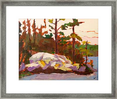 Canadian Shield Haliburton Framed Print by Keith Thirgood