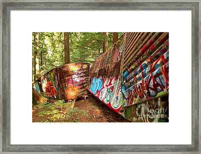 Canadian Train Wreck Framed Print by Adam Jewell