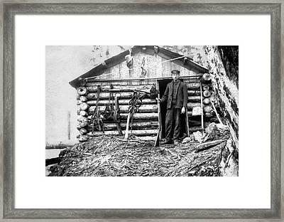 Canadian Trapper C. 1890 Framed Print