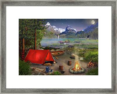 Framed Print featuring the drawing Canadian Wilderness Trip by David M ( Maclean )