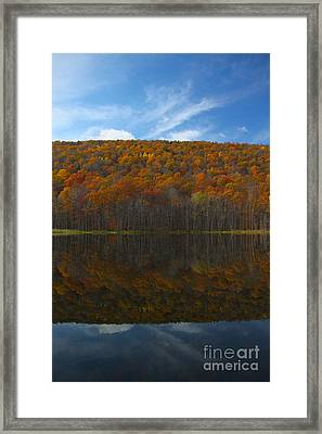 Canadice Lake Reflections Framed Print
