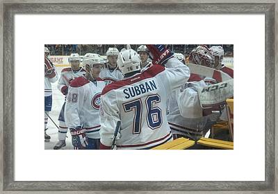 Canadiens Win Framed Print