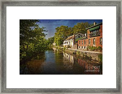 Canal Along The Porkyard Framed Print by Debra Fedchin
