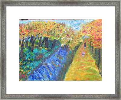 Canal And Towpath Framed Print by Ernie Goldberg