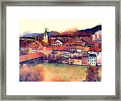 Framed Print featuring the photograph Canal At Thurgau by Susan Maxwell Schmidt