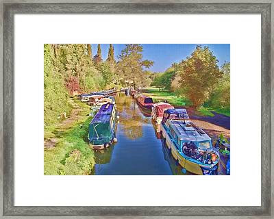 Canal Barges Framed Print by Paul Gulliver
