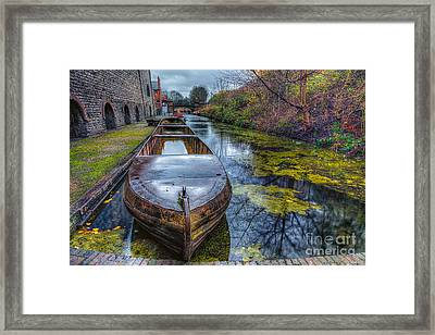 Canal Boat Framed Print by Adrian Evans