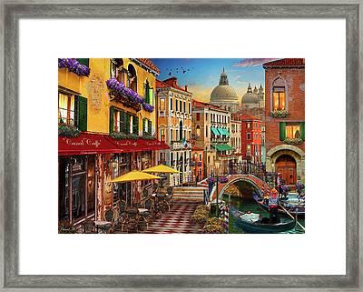 Canal Caffe Venice Framed Print