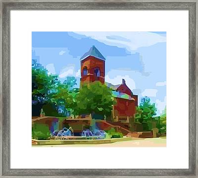 Canal Church Framed Print