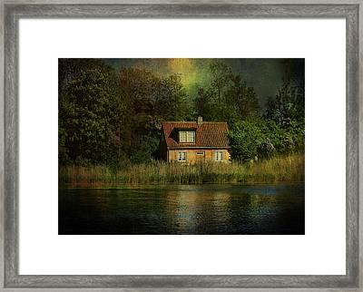 Canal Cottage Framed Print