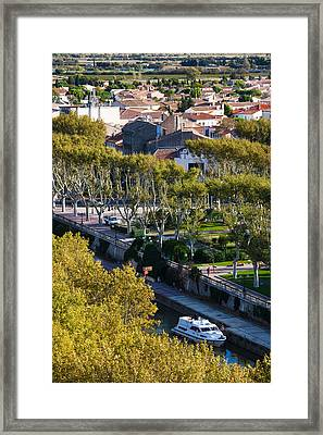 Canal De La Robine Overview Framed Print by Panoramic Images
