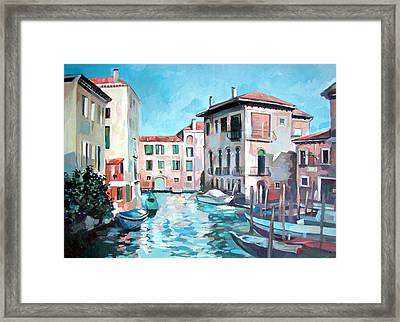 Canal Framed Print by Filip Mihail