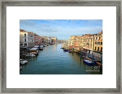 Canal Grande In Venice Framed Print by Matteo Colombo