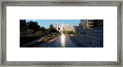 Canal In A City, Indianapolis Canal Framed Print by Panoramic Images
